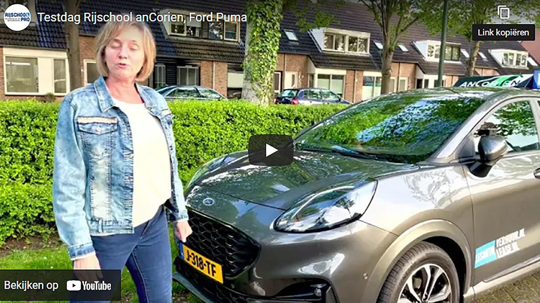 Ford Puma rijtest: Rijschool anCorien